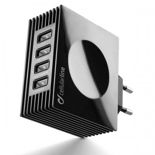 Cellular Line USB Charger Quad Ultra (ACHUSBQUAD4AK)