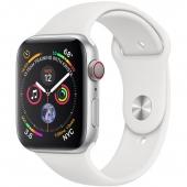 Apple Watch Series 4 GPS + LTE 44mm Aluminum Case w. White Sport B. (MTUU2) - Акция