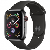 Б/У Apple Watch Series 4 GPS + LTE 44mm Black Steel w. Black Sport b. Black Steel (MTV52, MTX22)