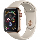 Apple Watch Series 4 GPS + LTE 40mm Gold Stainless Steel Case with Stone Sport Band (MTUR2)
