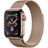 Apple Watch Series 4 GPS + LTE 40mm Gold Steel w. Gold Milanese l. Gold Steel (MTUT2; MTVQ2)