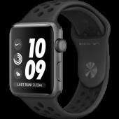 Apple Watch Nike+ Series 3 GPS 38mm Space Grey Aluminium C. w. Anthracite B. (MTF12)