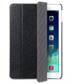 Melkco Slimme Cover leather case for iPad Air, black [APIPDALCSC1BKLC]