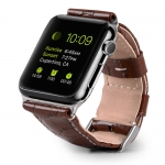 Ремешок Melkco Premium Leather Strap (Brown Crocodile Skin Pattern) for Apple Watch 42mm (APIW42LSST1BNCR)