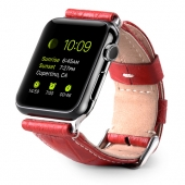 Ремешок Melkco Premium Leather Strap (Red Crocodile Skin Pattern) for Apple Watch 42mm (APIW42LSST1RDCR)
