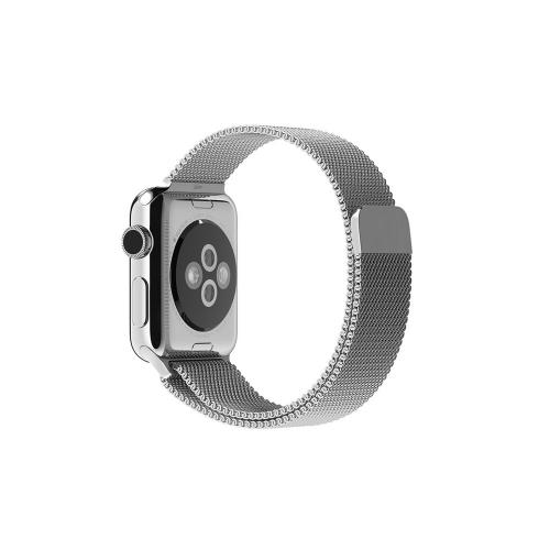 Часы Apple Watch 38mm Stainless Steel with Milanese Loop (MJ322)