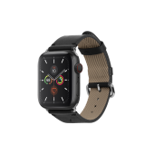 Native Union Classic Strap for Apple Watch 45/44/42mm, Black (STRAP-AW-L-BLK)