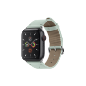 Native Union Classic Strap for Apple Watch 45/44/42mm, Sage (STRAP-AW-L-GRN)
