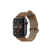 Native Union Classic Strap for Apple Watch 42mm/44mm, Brown (STRAP-AW-L-BRN)