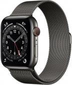 Apple Watch Series 6 GPS + Cellular 44mm Graphite Stainless Steel Case w. Graphite Milanese L. (M07R3) (M09J3)