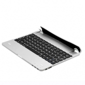 Bluetooth Aluminum Keyboard with Rechargeable Battery 4000 mAh Stand Case Silver for iPad 2/3/4