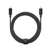 Native Union Belt 2.4 m Cable USB-C to USB-C Pro, Black (BELT-C-CSBK-PRO-NP)