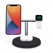 Belkin BOOST ↑ CHARGE PRO 3-in-1 Wireless Charger with MagSafe,  Black