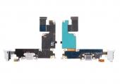 Шлейф зарядки и гарнитуры (Flat Cable Charger Connector with HF) (Black/White)