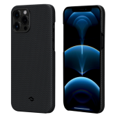 Pitaka MagEZ Case for iPhone 12 Pro, Plain Black/Grey (KI1202P)