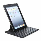Keyboard Rotating Aluminum Bluetooth Case Cover Black for iPad 2/iPad 3/iPad 4