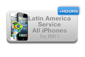 iPhone Latin America Service 3G, 3GS, 4G, 4GS,5 ( Clean Imei )