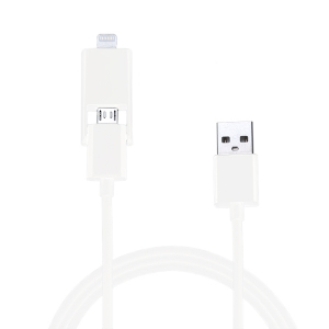 Le Touch iCombo5 Lightning&Micro USB 2in1 to USB Cable White (not work with iPhone 5S/5C) (COMBO5-W)
