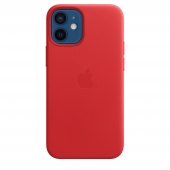 Apple Leather Case with MagSafe for iPhone 12 Mini, PRODUCT RED (MHK73)