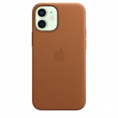 Apple Leather Case with MagSafe for iPhone 12 Mini Saddle Brown (MHK93)