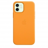 Apple Leather Case with MagSafe 12/12 Pro California Poppy