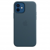 Apple Leather Case with MagSafe 12/12 Pro Baltic Blue (MHKE3)