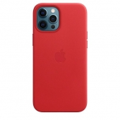 Apple Leather Case with MagSafe for iPhone 12 Pro Max, (PRODUCT)RED (MHKJ3)