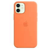 Apple Silicone Case with MagSafe for iPhone 12 Mini, Kumquat (MHKN3)