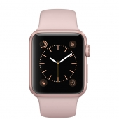 Часы Apple Watch Series 1 38mm Rose Gold Aluminum Case with Pink Sand Sport Band (MNNH2)
