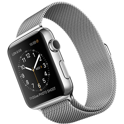 Часы Apple Watch Series 2 42mm Stainless Steel Case with Silver Milanese Loop (MNPU2)