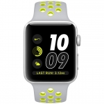 Часы Apple Watch Nike+ 42mm Silver Aluminum Case with Flat Silver/Volt Nike Sport Band (MNYQ2)