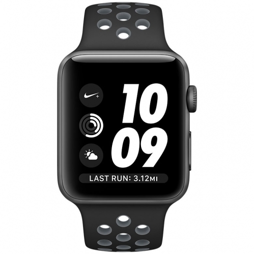 Часы Apple Watch Nike+ Series 2 42mm Space Gray Aluminum Case with Black/Cool Gray Nike Sport Band (MNYY2)