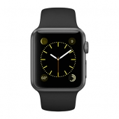 Часы Apple Watch Series 1 38mm Space Gray Aluminum Case with Black Sport Band (MP022)