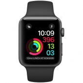 Акция!!! Смарт-часы Apple Watch Series 1 42mm Space Gray Aluminum Case with Black Sport Band (MP032)