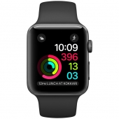 Б/У Apple Watch Series 2 42mm Space Gray Aluminum Case with Black Sport Band (MP062)