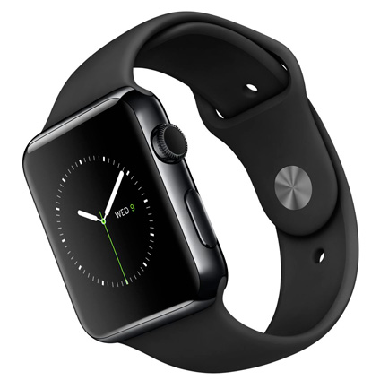 Часы Apple Watch Series 2 42mm Space Black Stainless Steel Case with Black Sport Band (MP4A2)