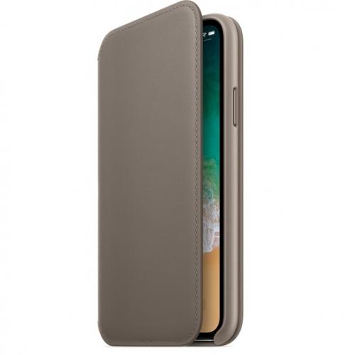 Чехол Apple Leather Folio для iPhone X