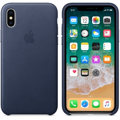 Чехол-накладка Apple Leather Case for iPhone X