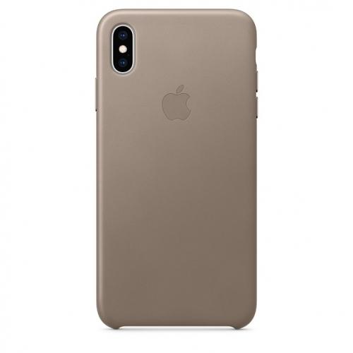 Чехол-накладка Apple iPhone XS Max Leather Case