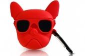 Чехол для AirPods Bulldog Red