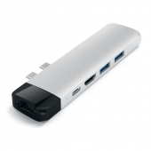 Satechi Aluminum Type-C Pro Hub Adapter with Ethernet Silver (ST-TCPHES)
