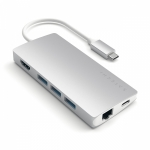 Satechi Type-C Multi-Port Adapter 4K with Ethernet V2 Silver (ST-TCMA2S)