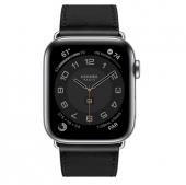 Apple Watch Series 6 44 GPS + Cellular Hermes Space Black Stainless Steel Case Noir Single Tour (MJ3H3)
