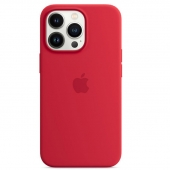 Apple Silicone Case with MagSafe for iPhone 13 Pro, (PRODUCT)RED (MM2L3)