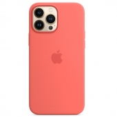 Apple Silicone Case with MagSafe for iPhone 13 Pro Max, Pink Pomelo (MM2N3)