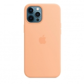 Apple Silicone Case with MagSafe for iPhone 12 Pro Max, Cantaloupe (MK073)