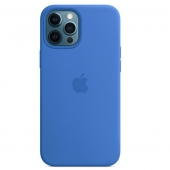 Apple Silicone Case with MagSafe for iPhone 12 Pro Max, Capri Blue (MK043)