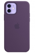 Apple Silicone Case with MagSafe for iPhone 12 | 12 Pro , Amethyst (MK033)