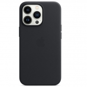 Apple Leather Case with MagSafe for iPhone 13 Pro, Midnight (MM1H3)