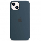 Apple Silicone Case with MagSafe for iPhone 13, Abyss Blue (MM293)